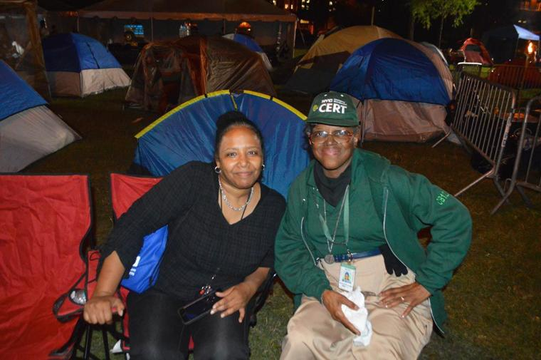 Camping in the park with the NYPD 10