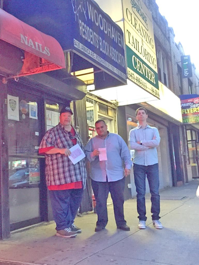 Woodhaven civic: End storefront trash fines 1