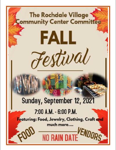 Rochdale Village hosts fall festival Sunday