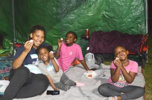 Camping in the park with the NYPD 5