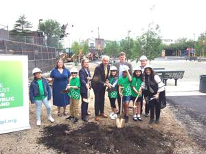 Construction begins on PS 58 playground 1