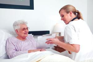 Nurses work with elderly in hospitals, homes 1