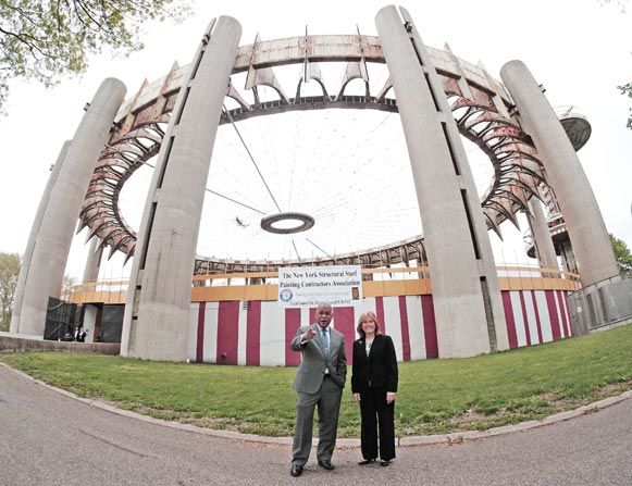 Free paint job for NY State Pavilion 1