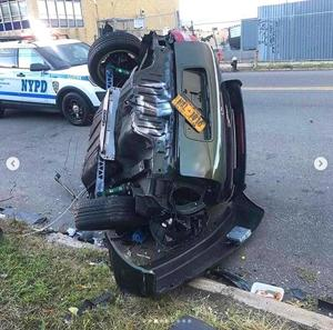 Speed kills: Drag racer's car split in two in LIC wreck - Queens