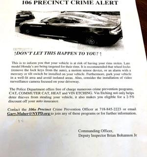 Cops leaflet newest Honda owners in HB 1