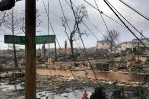 Rockaway Peninsula devastated by Hurricane Sandy  2