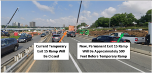New Exit 15 ramp on the Grand Central Parkway