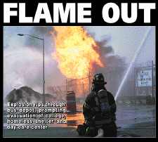 Flames, Smoke Erupt At Triboro Coach Depot