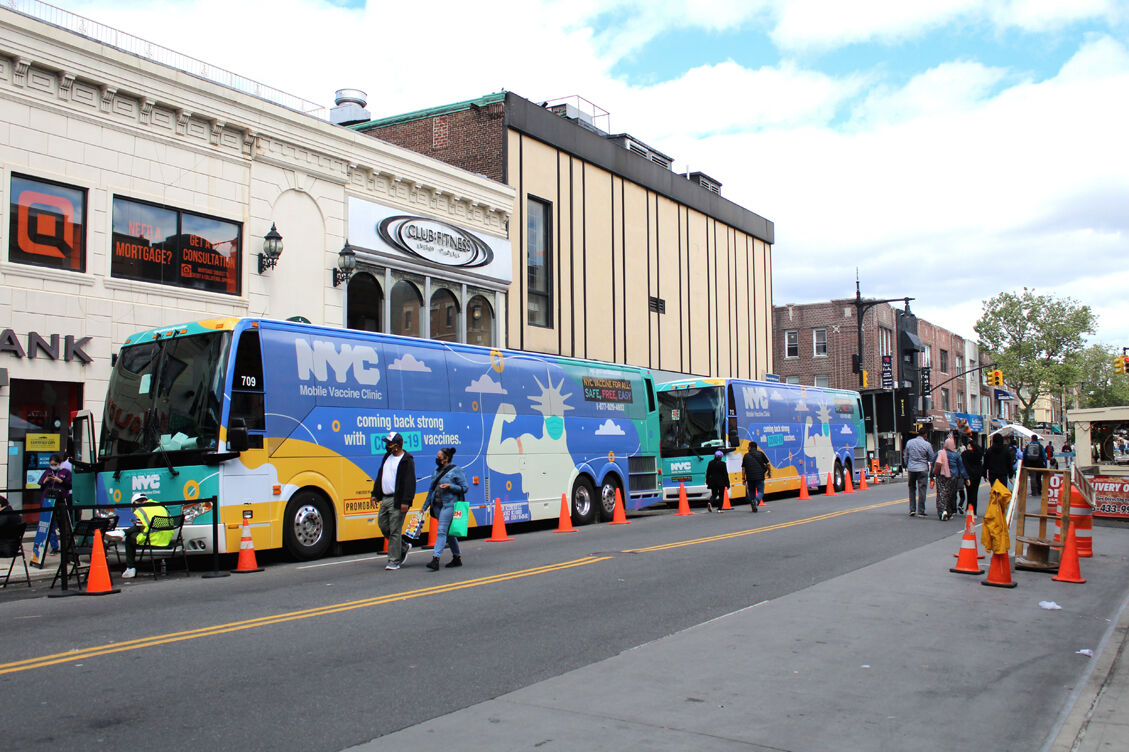 Pulling out all the stops with vax buses 2