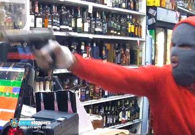 Ozone Park liquor store stickup 1