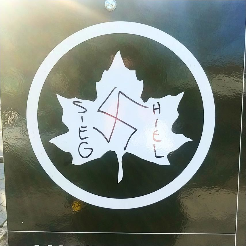 Swastika found in Marie Curie Park 2