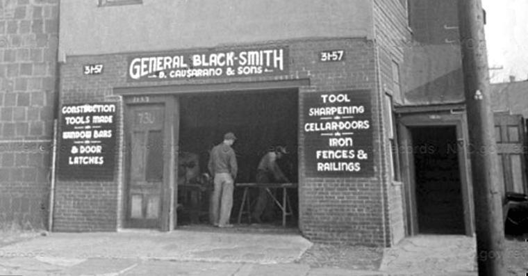 This Italian blacksmith had a shop on Vernon Blvd. 1