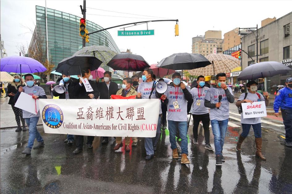 www.qchron.com: Protests march along incoming busway path