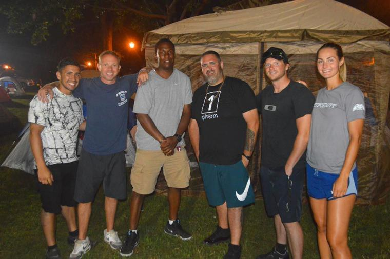 Camping in the park with the NYPD 6