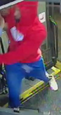 Man sought for questioning in bus attack