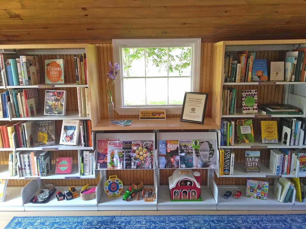 Crack open a book in the reading cottage 2