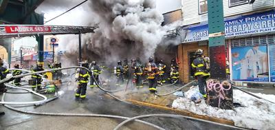 Two V-day fires on Jamaica Avenue 1