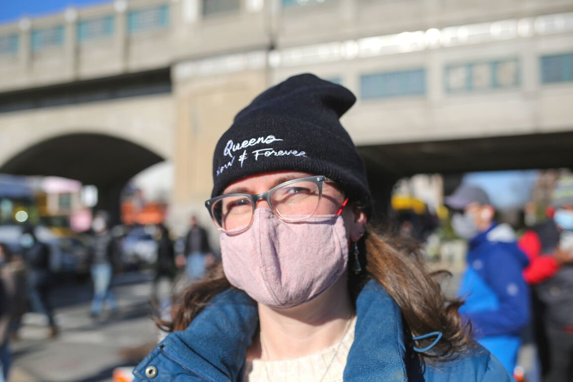 Protesting Queens' hospital bed shortage 2