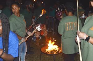 Camping in the park with the NYPD 1
