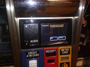 Cash only at 71st-Continental Ave. MetroCard machines
