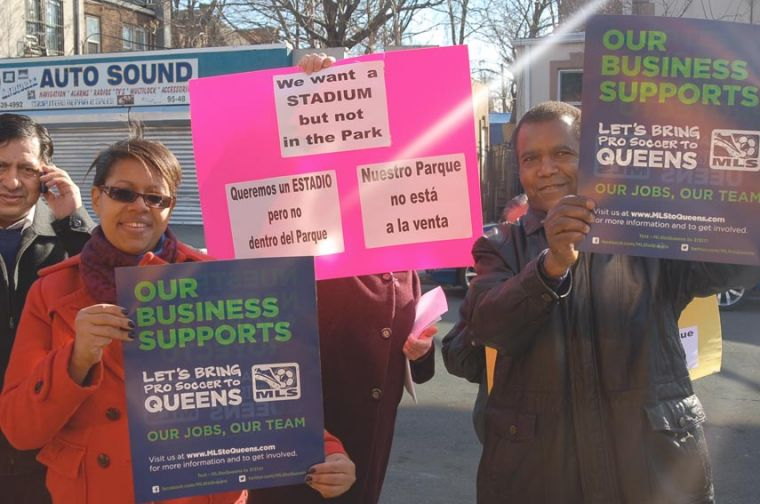 Major League Soccer promotes small business support for Queens stadium 1