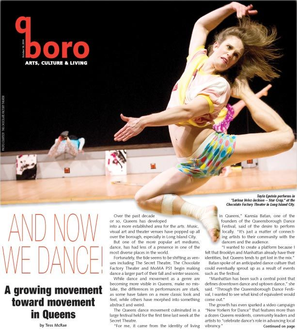 From pointe to 'Star Crap,' dance grows in Queens 1