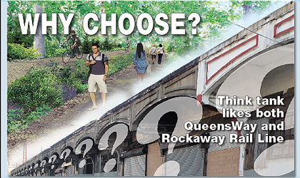 Think tank sees a split of both rail and park 1