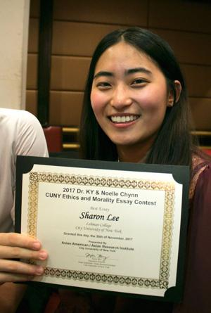 Woodside student wins CUNY contest with a touching essay 1
