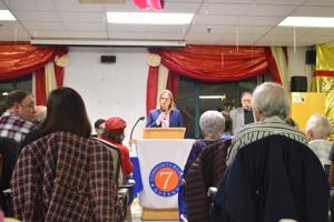 Katz visits CB 7, is met with protesters 2