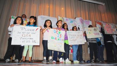 Students protest plan to cut youth programs 1