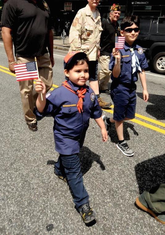 Sunnyside flag parade 2