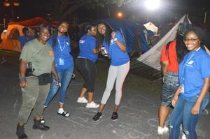 Camping in the park with the NYPD 7