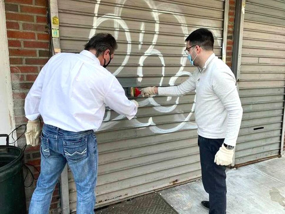 Graffiti gone in Ozone Park 2