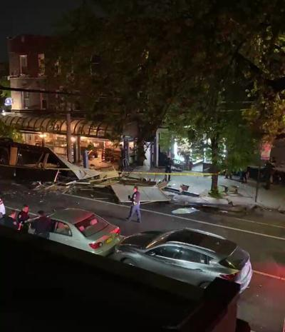 SUV kills scooter driver, smashes though Astoria outdoor seating