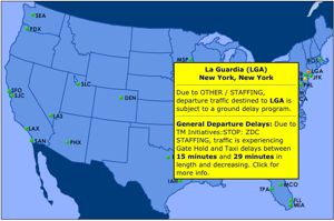 Flights halted, delayed into LaGuardia