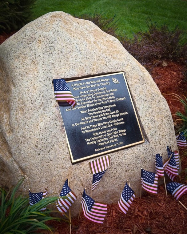 Glen Oaks dedicates park to armed forces 2