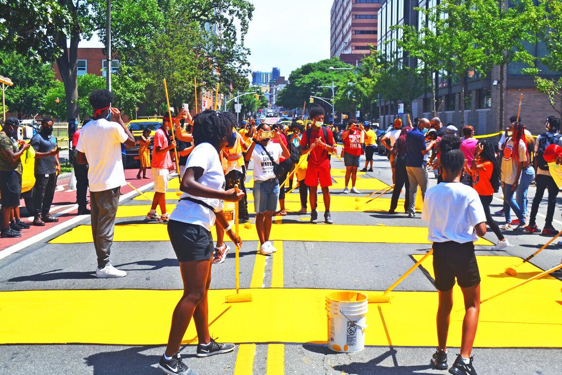 BLM sign adorns Jamaica Avenue 1
