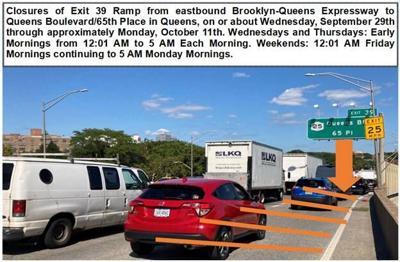 DOT sets overnight BQE ramp closures