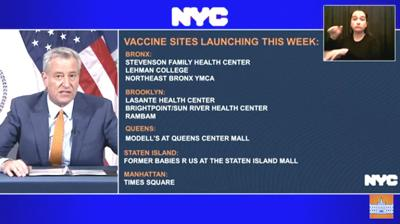 Queens Center now is vaccine location 1