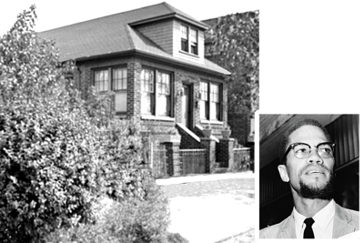 Malcolm X struck by  violence in East Elmhurst 1
