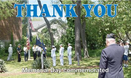 Memorial Day commemorated in Forest Hills cover