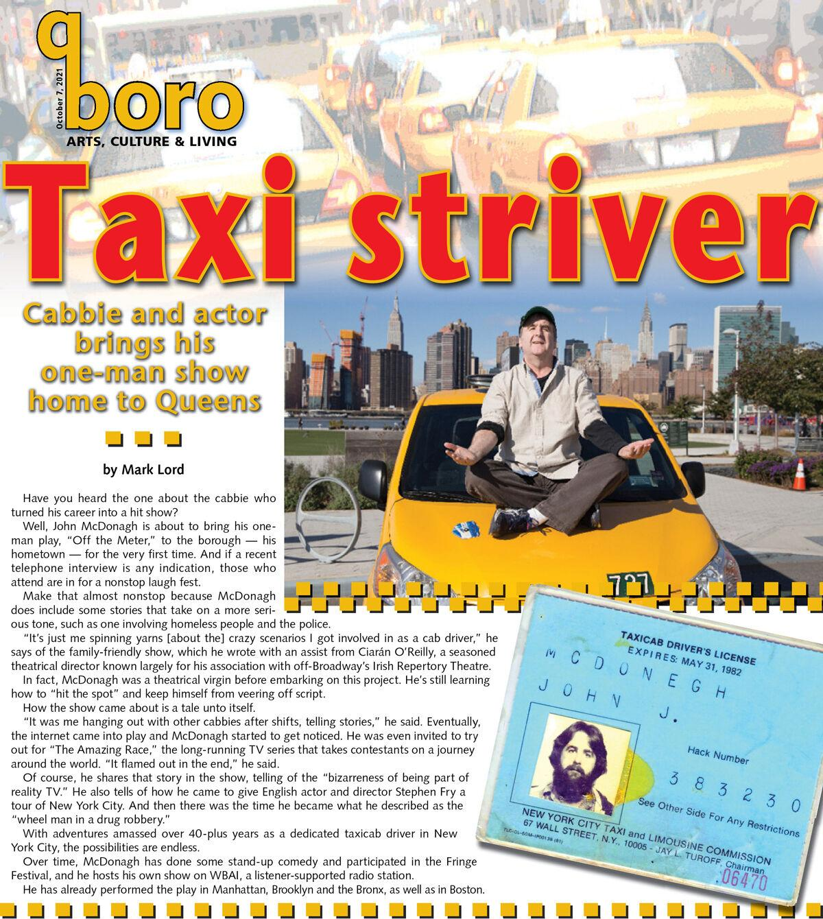 Queens cabbie with stories is no hack on stage 1