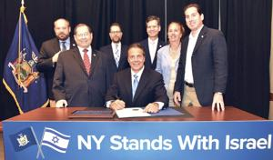 Cuomo signs state BDS business ban 1