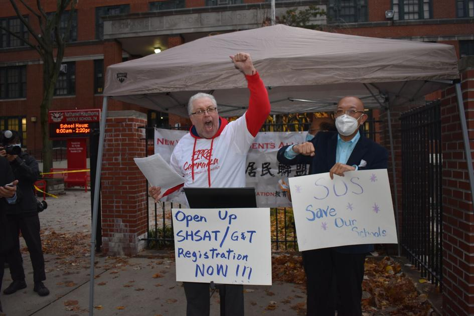 www.qchron.com: Parents protest delays on SHSAT, gifted and talented testing