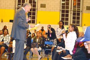 De Blasio talks the issues in Jamaica 3