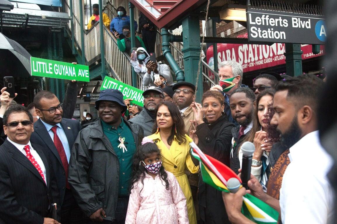 Flying the 'Little Guyana' sign high 1