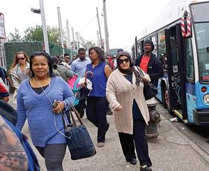 <p>Thousands of passengers on the A train subway line were forced to commute via shuttle buses during Wednesday's morning rush hour after thieves stole copper wiring that powers trains from 12 stations in and around Howard Beach.</p>