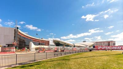 TWA hotel's second tower tops out at JFK 1