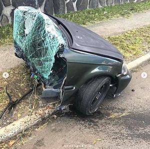 Speed kills: Drag racer's car split in two in LIC wreck
