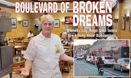 Bike lanes are 'murder' on Rego Pk. businesses